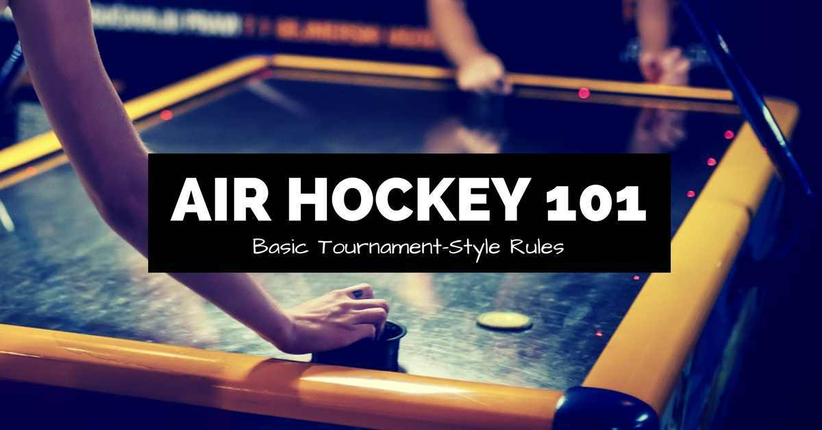 air hockey 101 tournament style rules banner