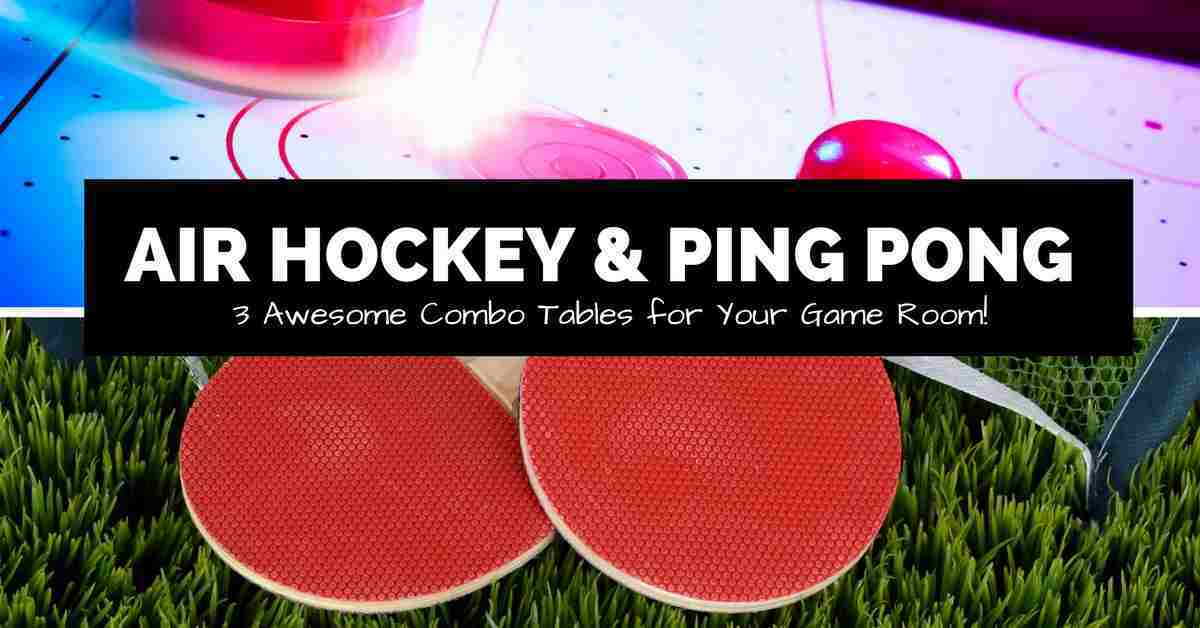 air hockey and ping pong image collage