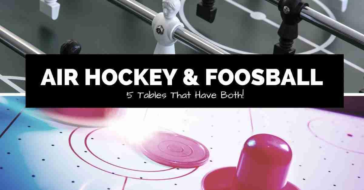 air hockey and foosball split screen image