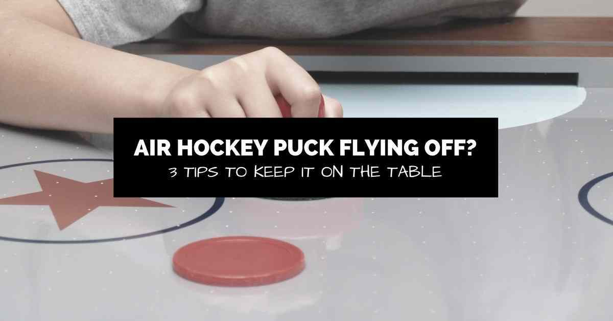 air hockey puck on the table with text