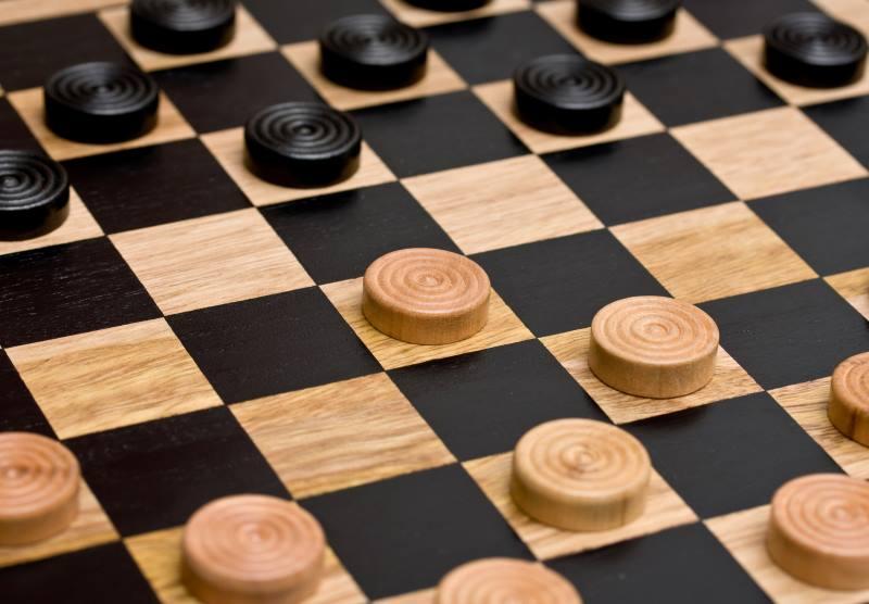 checkers board close up
