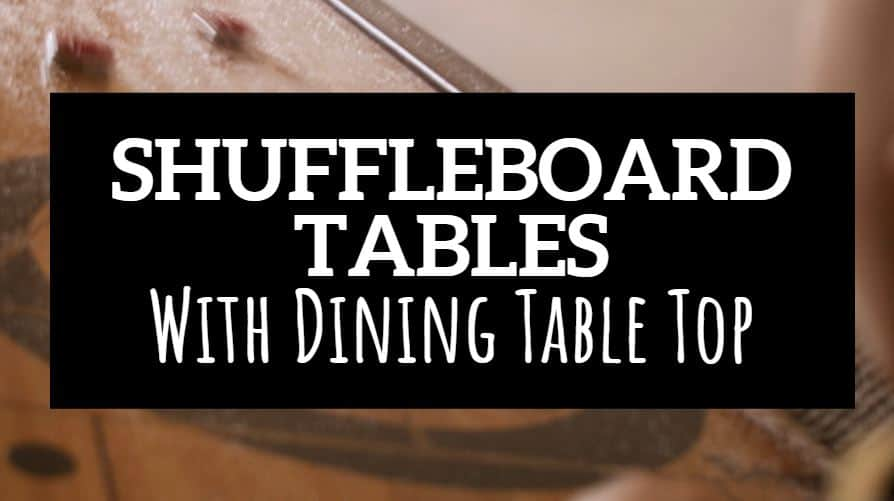 shuffleboard table with dining table top