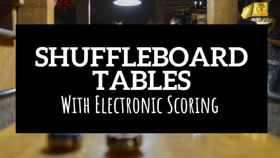 shuffleboard table with electronic scoring