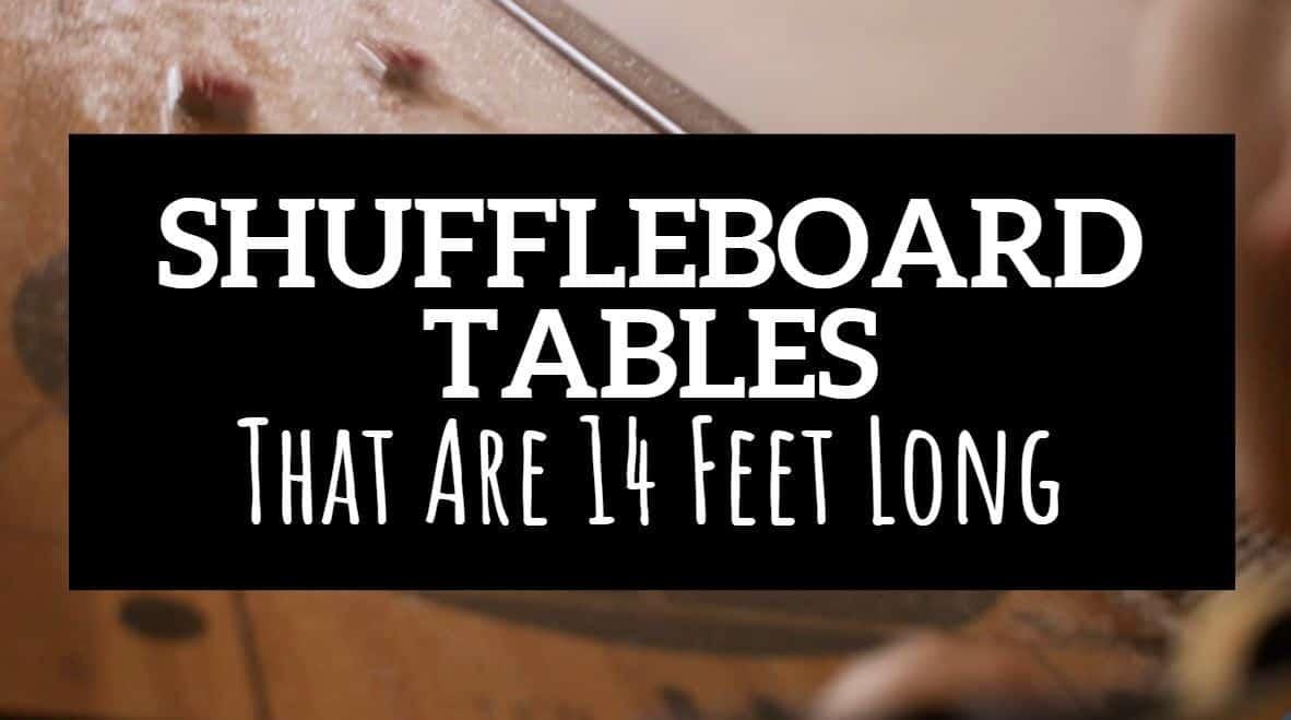 14 foot shuffleboard table
