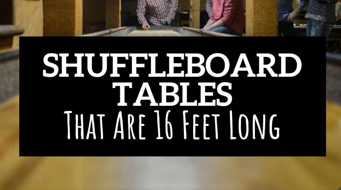 16 foot shuffleboard table