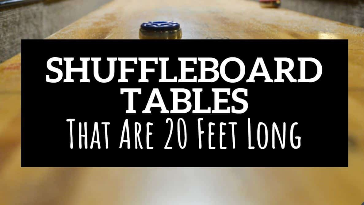 20 foot shuffleboard table