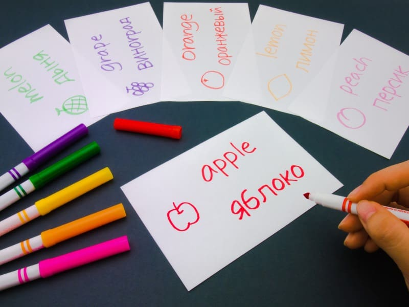 example of flash cards