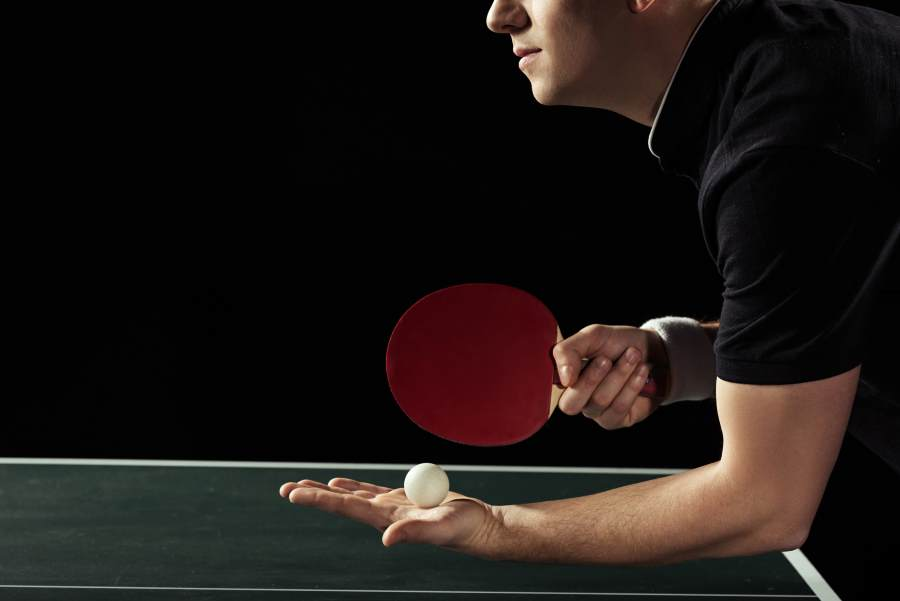getting better at ping pong table tennis serving