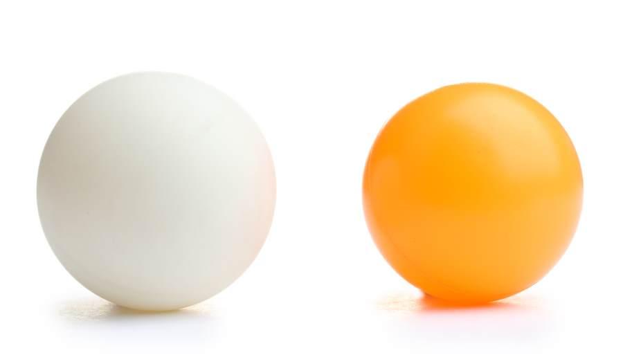 ping pong balls close up