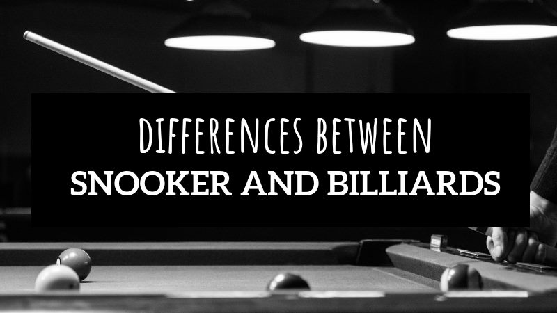 difference between snooker and billiards