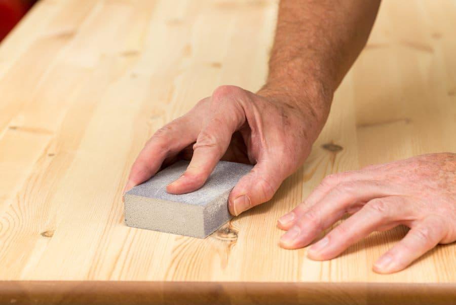 wood finish shuffleboard table